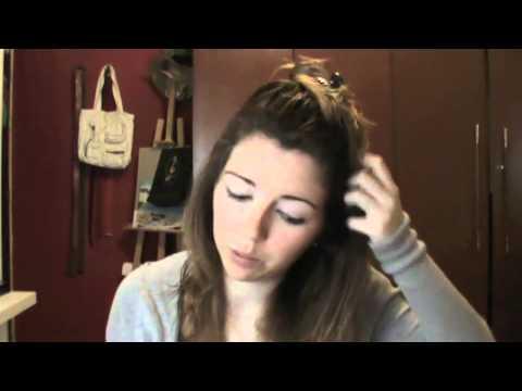 Peinado diario para el pelo suelto - YouTube