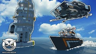 TSUNAMI BUNKER, MOBILE BASE, and YACHT! - Stormworks: Build and Rescue Gameplay