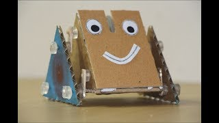 Homemade Walking robot with cardboard for kids