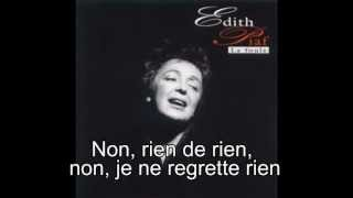 Edith Piaf / NJNRR (1961) *Lyrics*