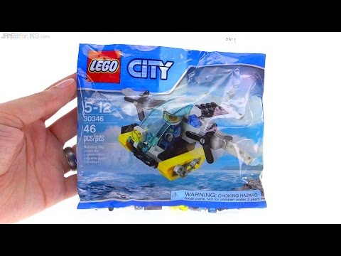 LEGO City Prison Island Helicopter (❓) polybag review! 30346