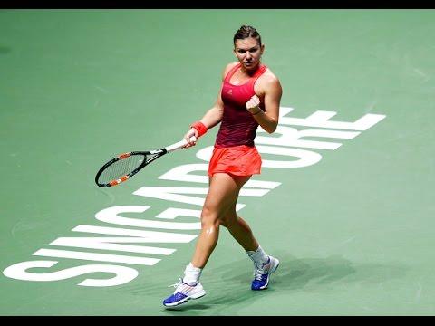 Simona Halep vs Flavia Pennetta | 2015 WTA Finals Highlights