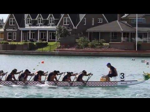 Coast Guard Dragon Boat Team 2K Start in Slow Motion