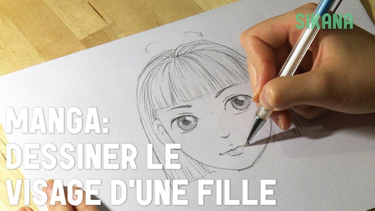 Manga dessiner un visage de fille hd youtube - Visage manga fille ...