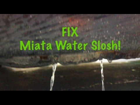 project 1990 Mazda Miata [part 19] FIX WATER SLOSHING NOISE!