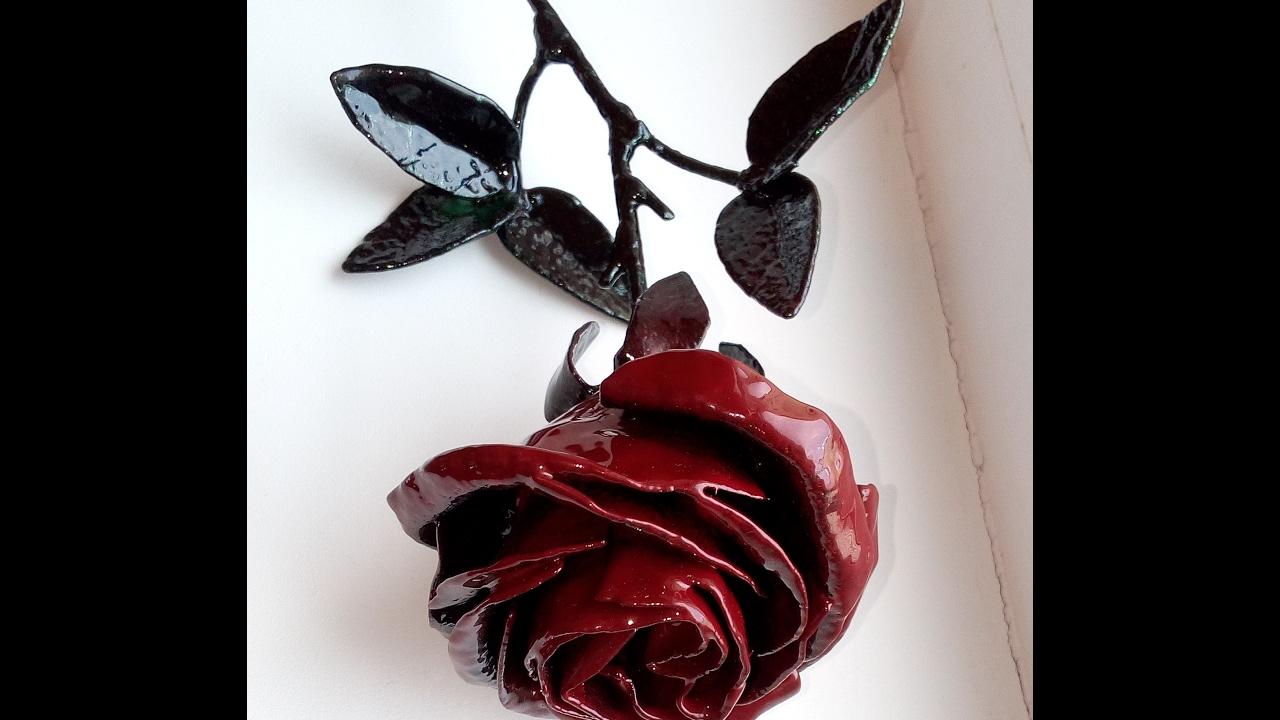 Роза с металла своими руками 54