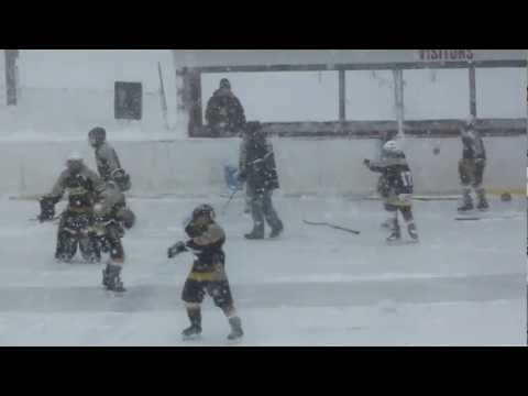 Gaylord Ice Hawks Winter Classic in Petoskey, Mi