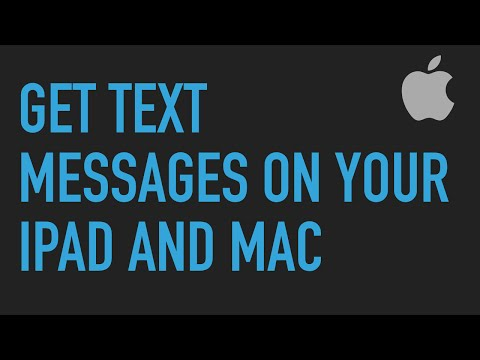 Send and receive text messages (SMS) on your iPad or Mac!