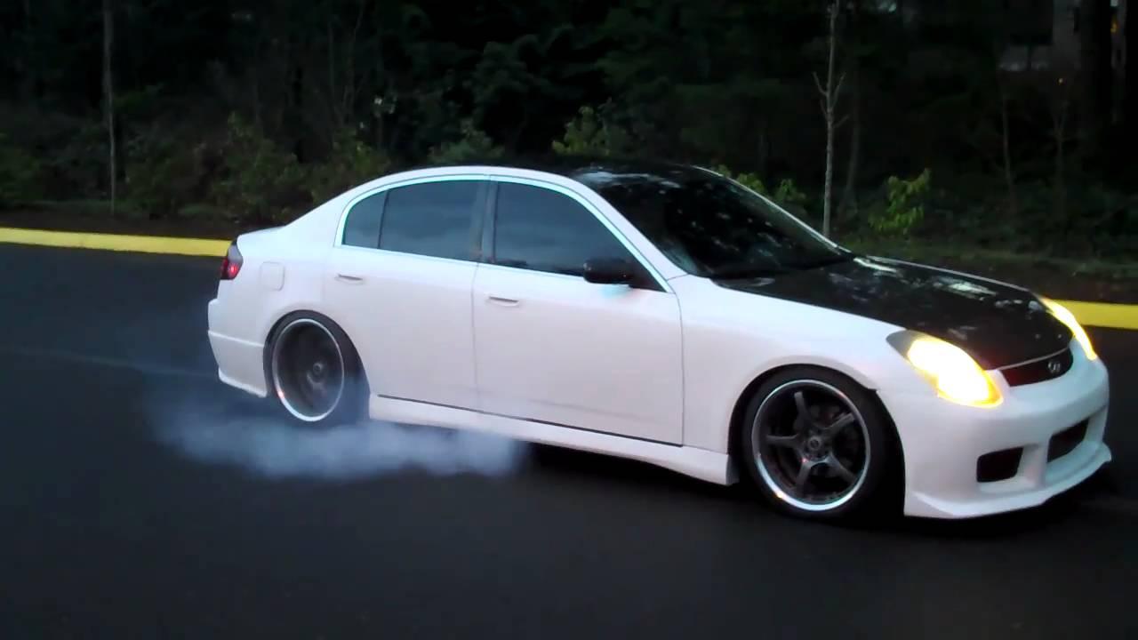 2004 Infiniti G35 Sedan Burnout Youtube