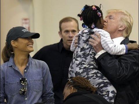 Trump kisses Black Babies. Liberals go haywire