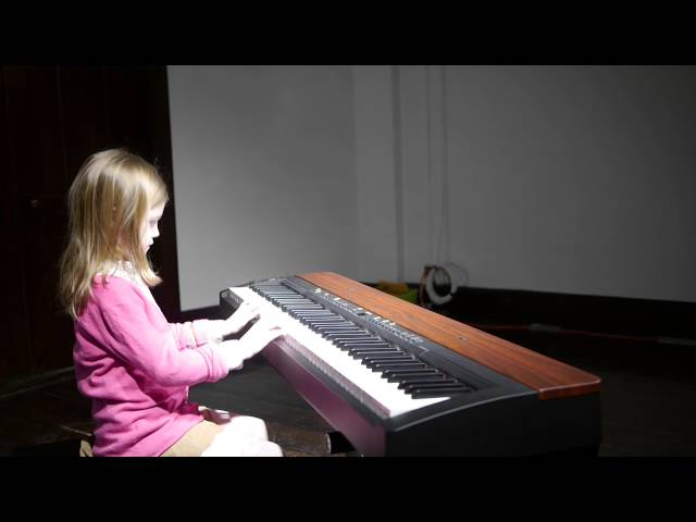 Leonie (7) plays French Childrens Song, Cuckoo and Ode To Joy - first piano recital