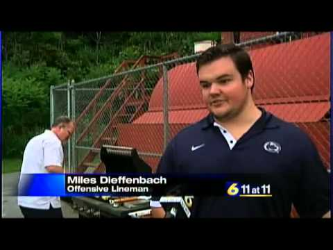 PSU football coach and players visit Penns Valley Youth Center