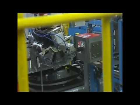 Robotic unit for marking of engine block serial number