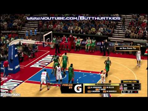 NBA 2K13 MILWAUKEE BUCKS VS DETROIT PISTONS