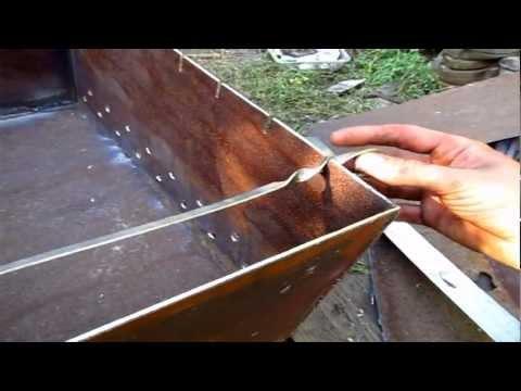 и схемы мангала из металла
