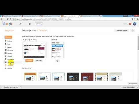 Cara Download dan Merubah Template Blog