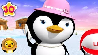 5 Little Penguins! | Nursery Rhymes & Kids Songs! | Videos For Kids | Little Baby Animals