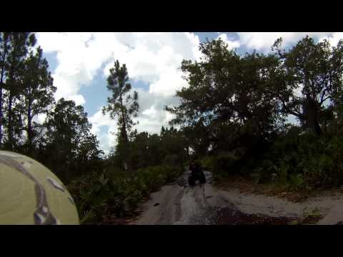Arctic Cat Trail Riding in Deep Water in Kissimmee Lakes