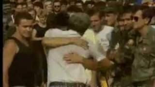 SERBIA  CROATIA PRISONER EXCHANGE-14.8.92