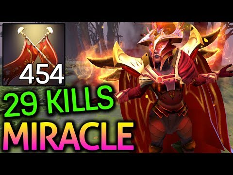 Miracle- Dota 2 [Legion Commander] Carry Game 29 Kills with +454 Damage