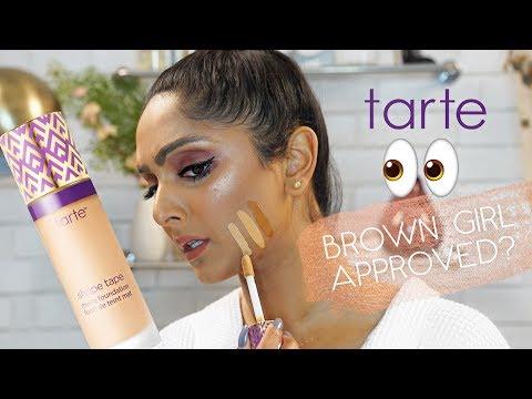 Brown Girl Friendly?? TARTE SHAPE TAPE FOUNDATION Honest Review + Wear Test   Deepica Mutyala