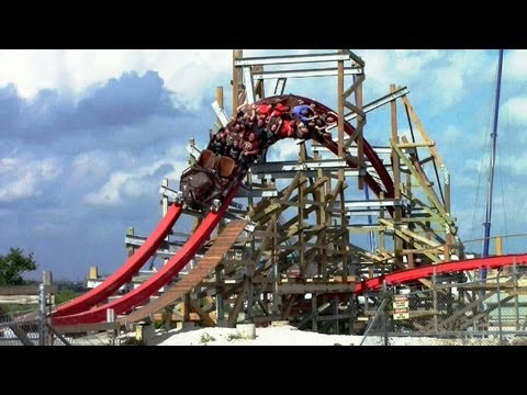 Iron Rattler off-ride HD Six Flags Fiesta Texas