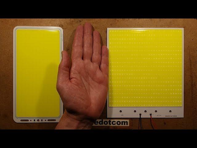 Even BIGGER 200W COB LED panel tests.