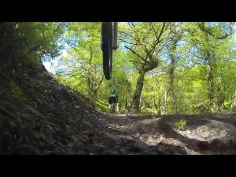 QUANTOCKS MTB 01/06/13 BUMS UP DOWNHILL MTB NUDE BUM ORANGE ALPINE 160 filmed with GOPRO