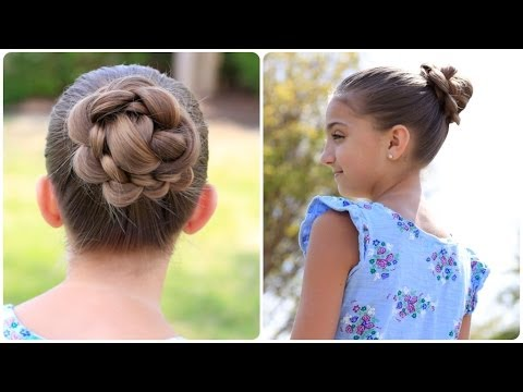How To Create A 3D Flower Bun Cute Updos YouTube