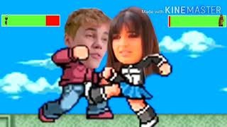 Justin Bieber vs Rebecca Black with healthbars