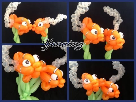 PECESITO NEMO HECHO CON GLOBOS.- HOW TO MAKE A NEMO BALLOON