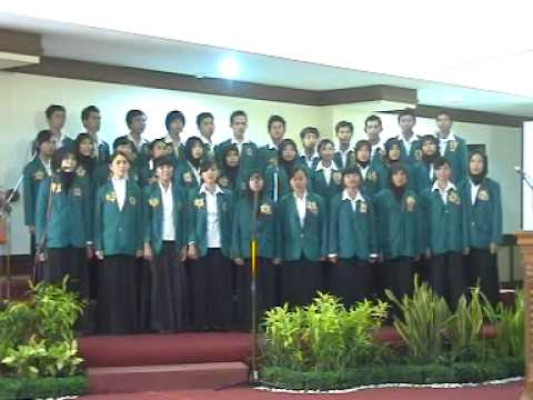 Paduan Suara Mahasiswa UST Jogjakarta Lagu Tamansiswa.