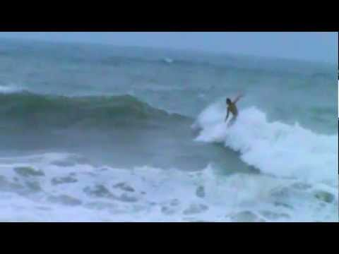 Surfing Hurricane Irene Surf City, NC August 26, 2011 7-8 am Topsail NC