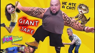GIANT IN THE WOODS..BEWARE!! MEETS THE FUNKEE BUNCH!! IT