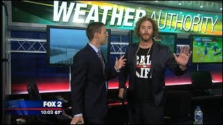 T.J. Miller does the weather for FOX 2