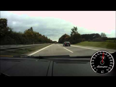 Lamborghini Gallardo Spyder LP560-4 acceleration autobahn sound vmax GPS speedo