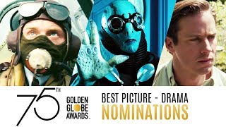 75th Golden Globe Awards Nominees | Best Picture Drama Trailer Compilation