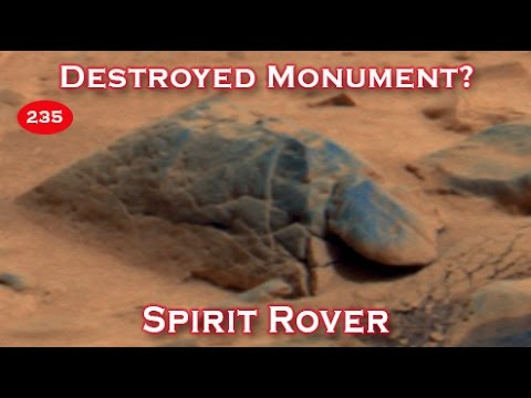 Destroyed Monument On Mars Photographed By NASA's Spirit Rover?