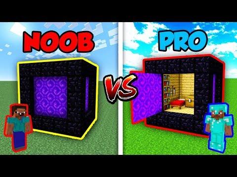 Minecraft NOOB vs. PRO: SECRET PORTAL CUBE in Minecraft!