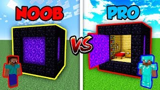 Minecraft NOOB vs. PRO: SECRET PORTAL CUBE in Minecraft!