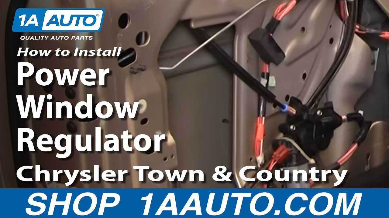 how to install replace power window regulator chrysler