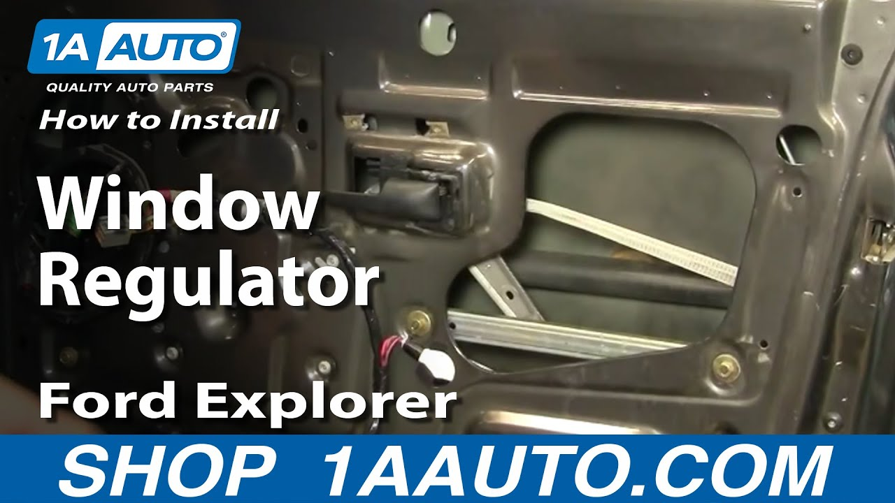 How to install replace window regulator ford explorer sport trac 01 05 youtube Car window motor replacement