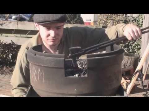 Forging a Leaf Spring Bearded Axe- Part 1