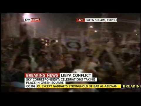 Sky News' Alex Crawford arrives in Green Square, Tripoli, Libya