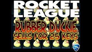 Rocket League   Rubber Duckie Sells for 25 keys