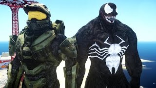 HALO MASTER CHIEF VS VENOM - EPIC BATTLE