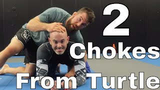 2 Match-Ending BJJ Chokes From Turtle (Even If The Chin is Tucked)
