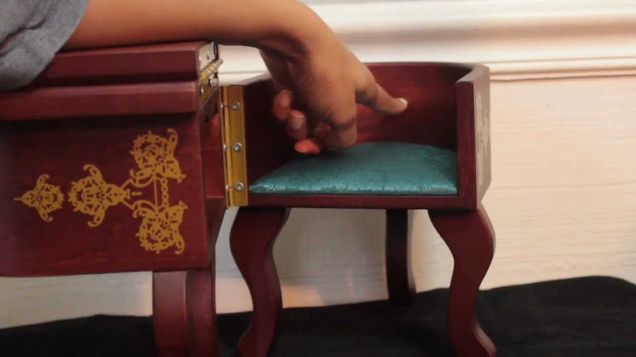 American Girl Doll Furniture Review Cecile 39 S Parlor Desk Retired Youtube