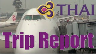 THAI AIRWAYS B747-400 & Airbus A320 | HK to Udon Thani via Bangkok Flight | TG601, WE8