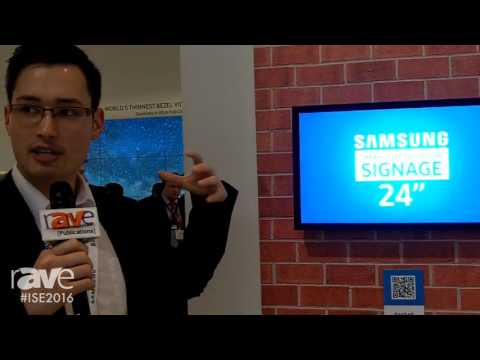 ISE 2016: Samsung Features the OH24E 24-Inch Small Sized Outdoor Signage